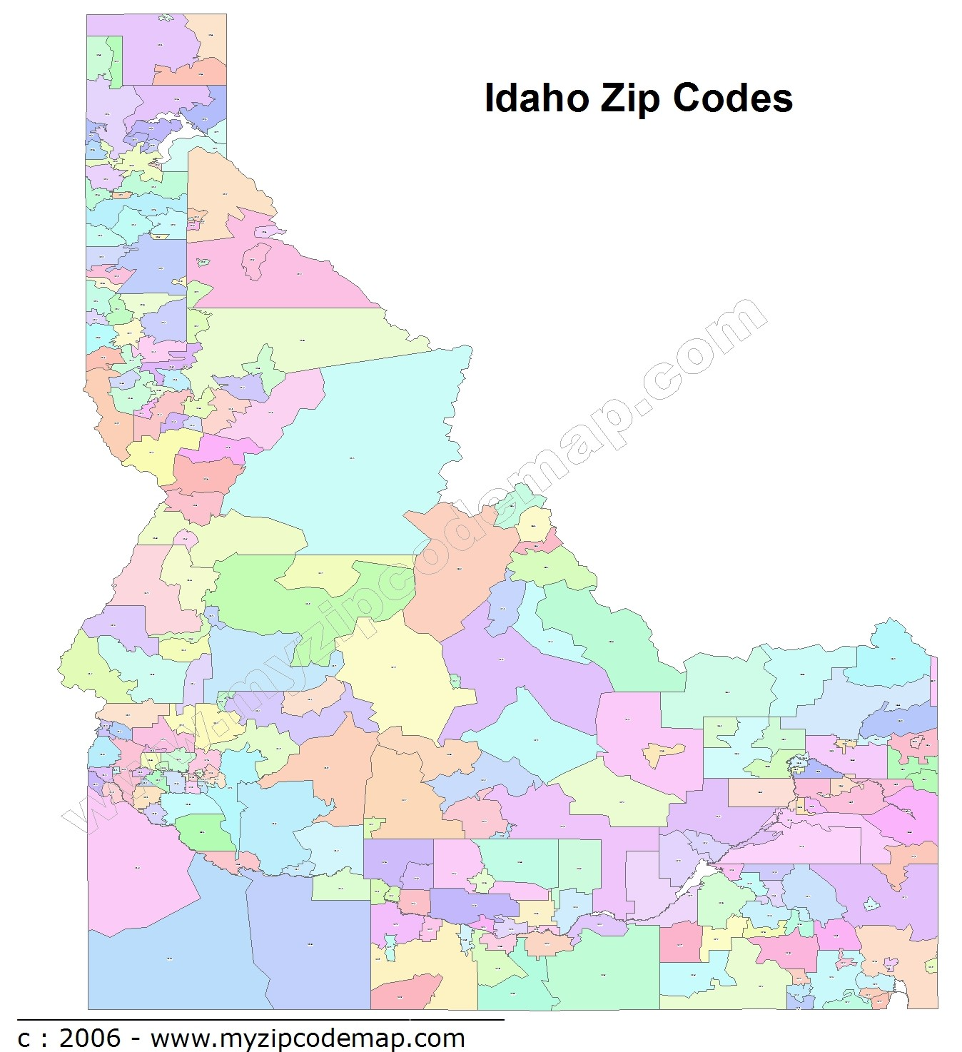 Idaho Zip Code Maps Free Idaho Zip Code Maps - Map of idaho with cities