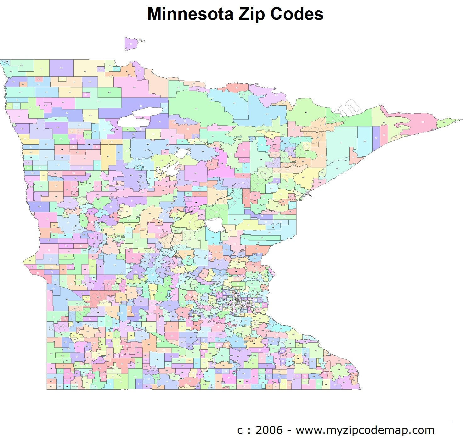 Minnesota Zip Code Maps